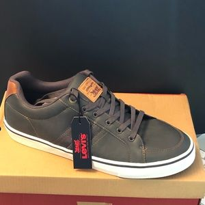 Levis leather sneakers (grey) never worn